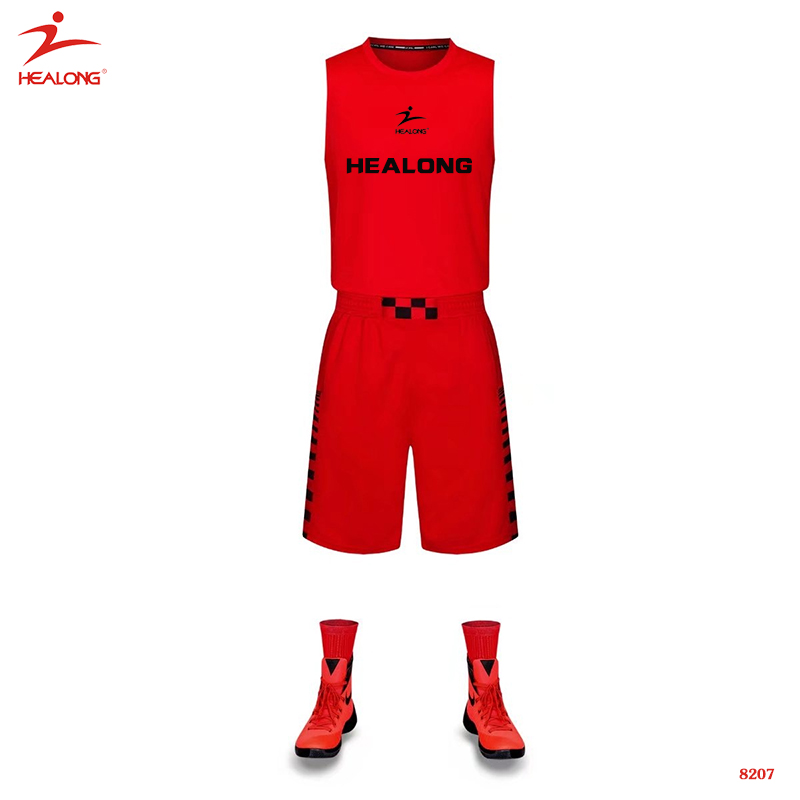 Best Basketball Uniform Design Color Red Blue Combination Jersey