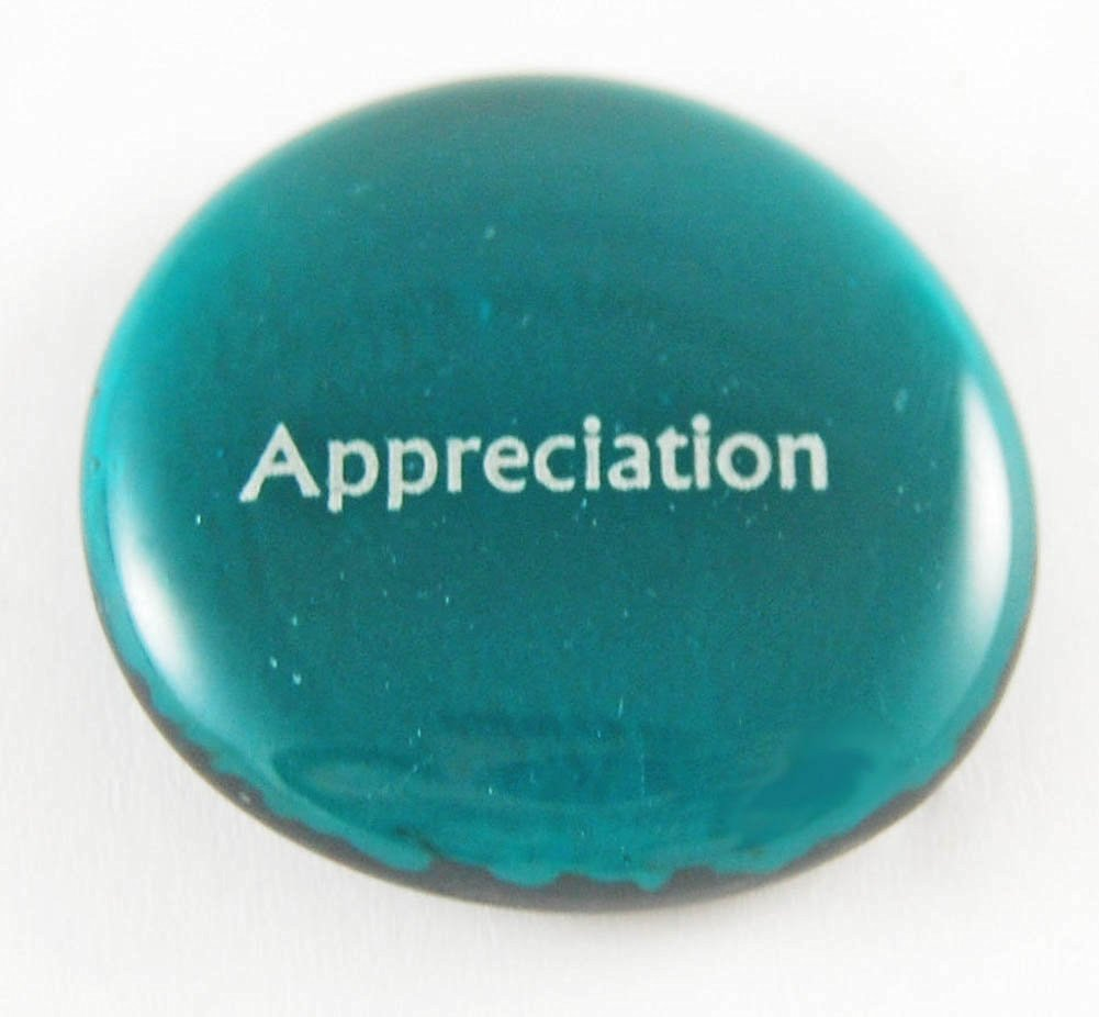 get quotations appreciation colored glass focus imprinted stones words