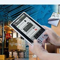 industrial android tablet long range rfid reader with barcode scanner