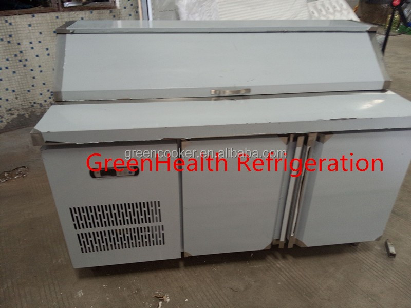 Stainless steel under counter workbench refrigerator freezer for salad