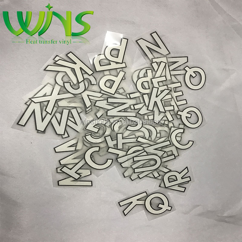 heat transfer vinyl sheet customized size and package for basketball jersey and football jersey numbering and lettering