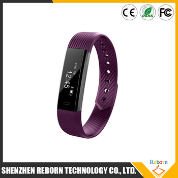 Smart Watch Id115 Bluetooth Wristband Heart Rate Monitor Fitness Tracker Pedometer Bracelet For Phone