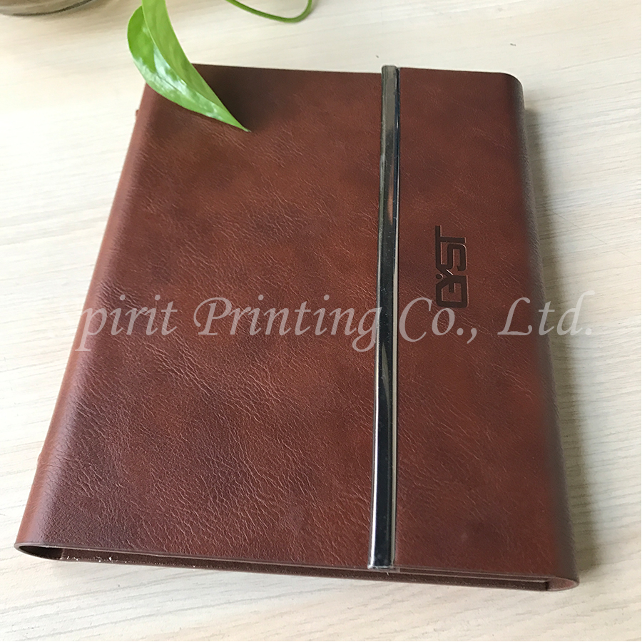 promational english arabic pu embossed wholesale leather a5 journal