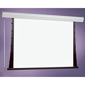"Silhouette Series C White Electric Projection Screen Size: 84"" x 84"""