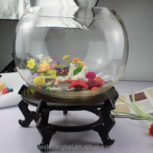 Decorative Glass Fish Bowls Prepossessing Wholesale Cheap Beautiful Round Borosilicate Glass Fish Bowl Decorating Design