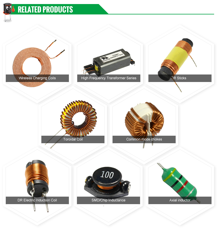 Axial ferrite core fixed inductor Color ring inductors for electronic mosquito swatter