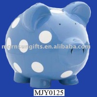 ceramic piggy polka dot money bank