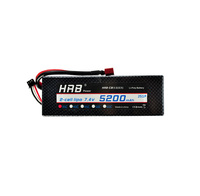 RC racing car battery 2S 5200mAh 7.4V with hard case