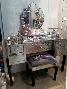Mirrored Dressing Table Set | Zef Jam