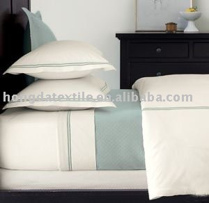 800Thread Count 100% cotton sateen hotel bedding set