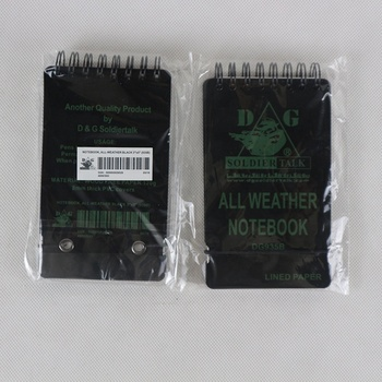 custom waterproof stone paper notebook with rubber band