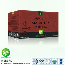 Lifeworth private label 3 days supply super herbal healthy red tea with maca extract for regulate metabolism