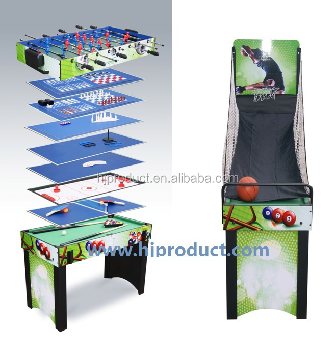 Multi functions 13 in 1 basketball game tables pool soccer for 13 in 1 game table