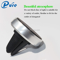 Auto Electronics Magnetic Suction Cup Mobile phone Car Bracket with Aluminum ring /silicone material