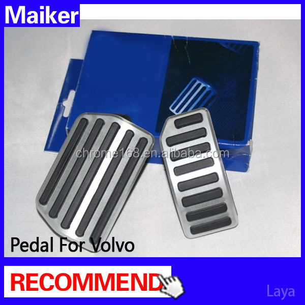 Car Gas Pedal For VOLVO AT Car Foot Rest Aluminum Alloy Auto Brake Pedal