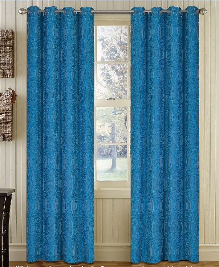 FANCY JACQUARD CLIP WINDOW CURTAIN WITH METAL RINGS