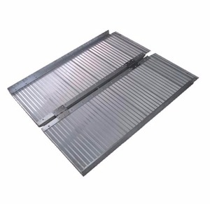 Folding Aluminum Wheelchair Ramp Aluminum Multifold Wheelchair Scooter Mobility Ramp portable