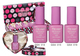 2014 new design!Beautifully packaged pink bottle uv gel nail polish set/gel polish kits