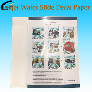 2018 Factory Sell directly NEW A4 inkjet water slide decal transfer printing paper