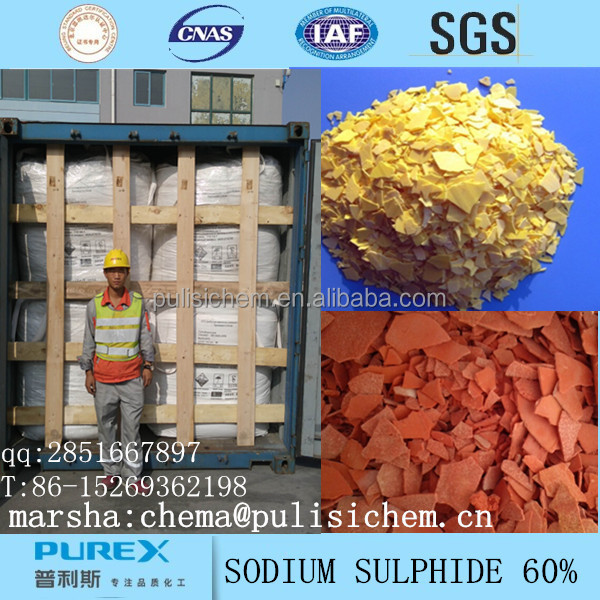 Sodium sulfide60% in leather Auxiliary Agents