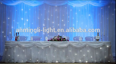 Fireproof Led Star Cloth Curtain With High Quality For Wedding Stage Backdrop