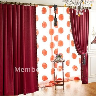 yj342 unique burgundy embossing blackout living room curtains in curtains from home garden on. Black Bedroom Furniture Sets. Home Design Ideas