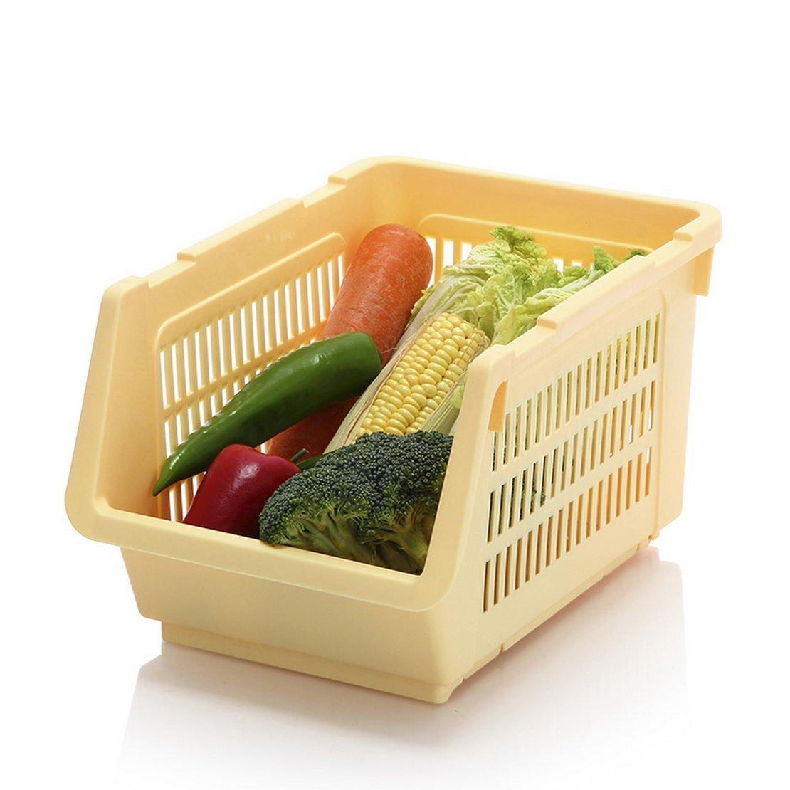 Get Quotations · Fruit And Vegetable Basket Kitchen Storage Rack Shelf  Storage Rack Storage Basket Plastic Vegetable Sorting Shelf