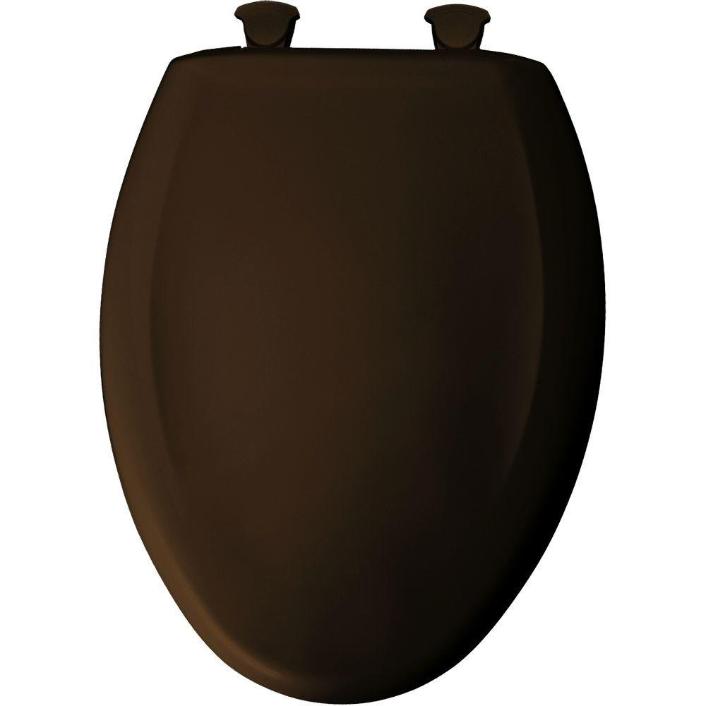 Bemia|#Bemis 1200SLOWT 168 Slow Close Sta-Tite Elongated Closed Front Toilet Seat, Americana Brown,