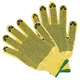 Yellow Color Factory Direct Good Price High Quality Fire-proof,Cut Resistant Gloves With Black PVC Pattern