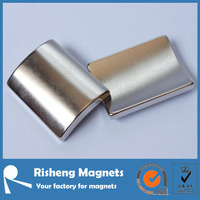 nickel coating motor magnete neodymium arc magnets