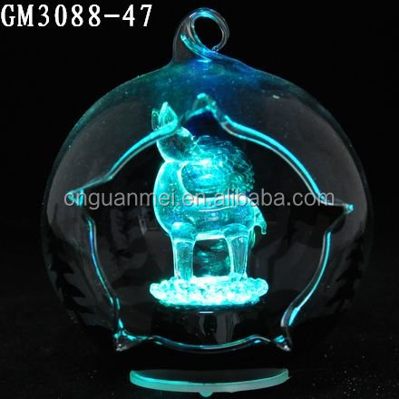made ins china led lighted deer inside open christmas glass ball ornaments