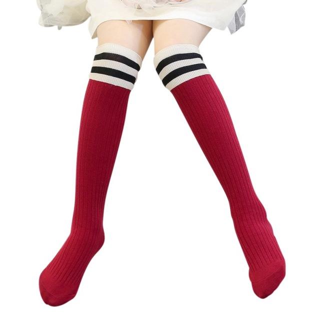Custom teenage white cotton japan teen women young girl knee high student  tube socks teenage school