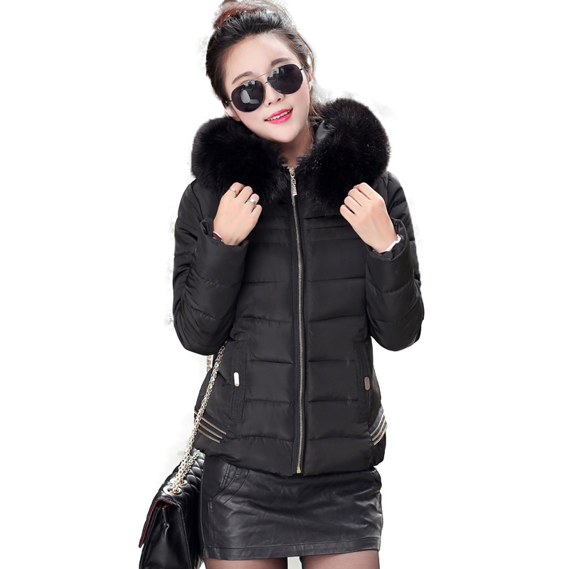 Winter Women Parka Jacket With Fur Collar Hooded Coat Warm Cotton Down Parkas Outwear 6 Colors 215 New Winter Jackets And Coats