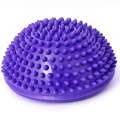 Purple PVC Inflatable Yoga Balls Massage Point Half Fitball Exercises Trainer Stabilizer GYM Pilates Fitness Balancing