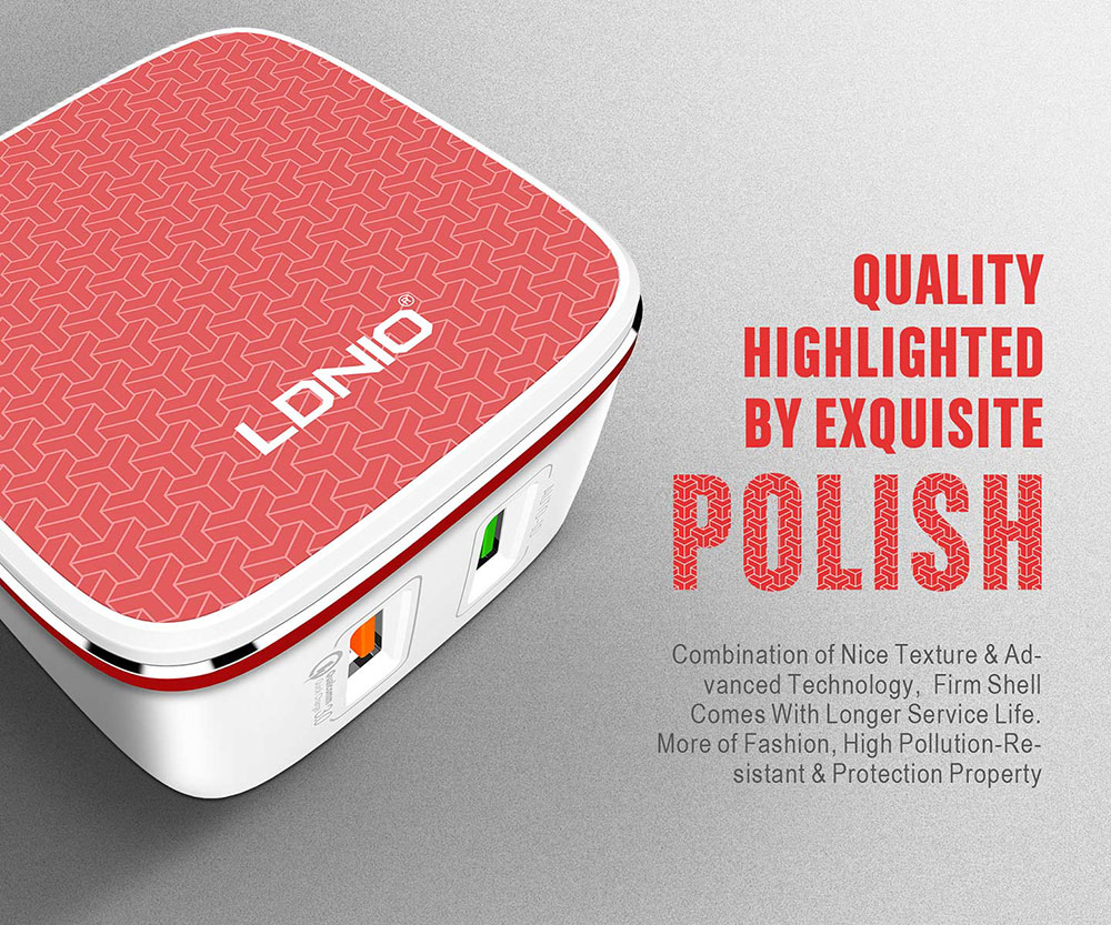 LDNIO mobile dual usb charger 5V 4.3A Quick Charge Universial QC 2.0 usb charger A2405Q