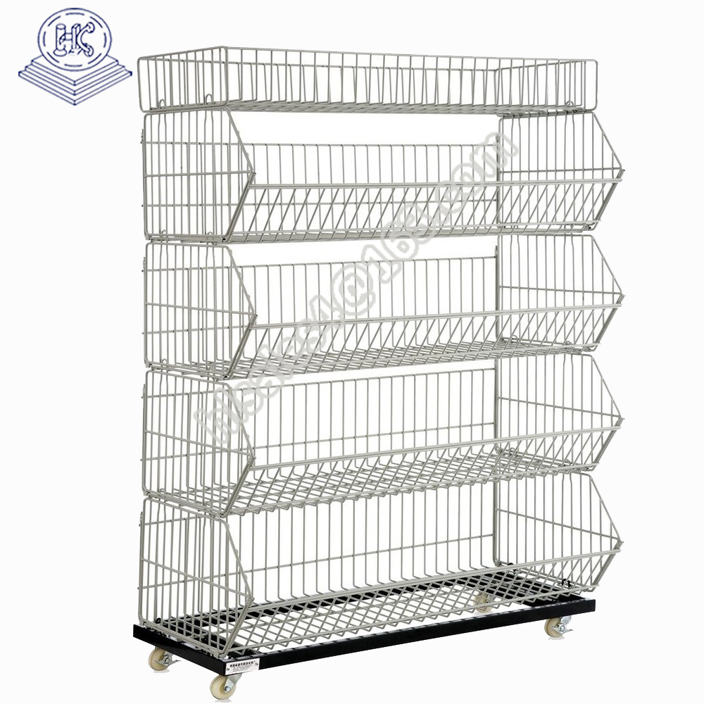 Metal wire supermarket promotion cage