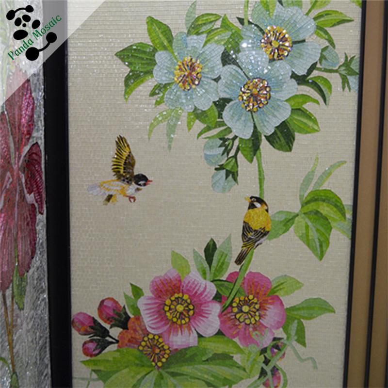 Mb smm05 flower pattern wall tiles mosaic art supplies for Carrelage exterieur mural