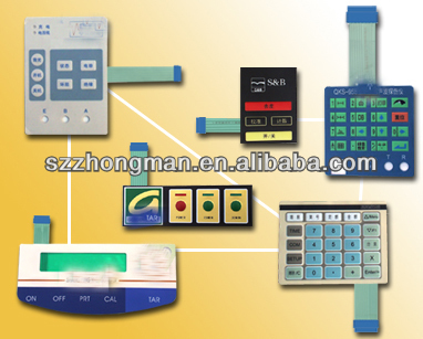 Microwave oven membrane switch panel