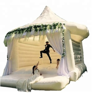 Hot sale white wedding inflatable bouncy castle/moon bounce house/bridal bounce for wedding decorate