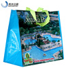 China Recycled BOPP Laminated PP Woven Shopping Bag With X Stitched PP Webbing Handles