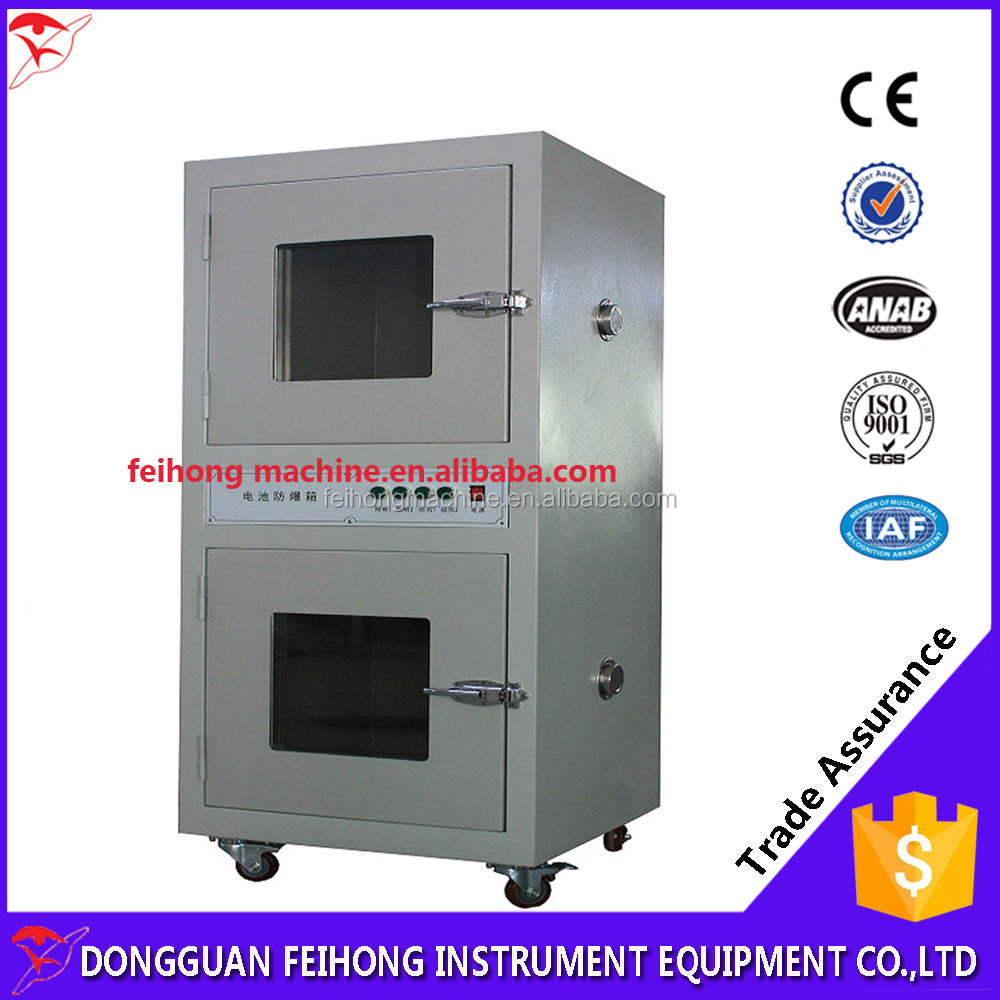 A battery explosion protection box/Battery test machine