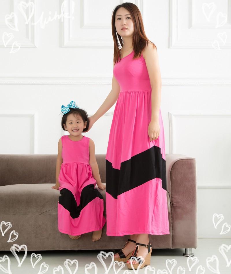 Más Nuevo Dulce Familia Set Madre Y Hija Vestido Diseño Lindo Mamá Y ...