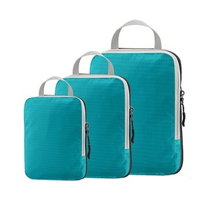 Hot 3pcs compression luggage packing cubes water resistant cloth/shoes packing bag