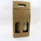 Graphic Customization 2 Gift Wine Box Packaging 2 Bottle Glass Carton Gift Wine Paper Box