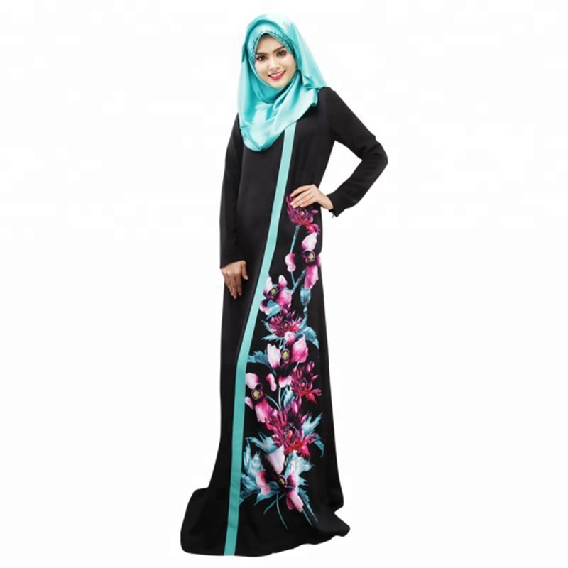 Modest Fashion Islamic Clothing Maxi Abaya Collection Turkey Long Strap Loose Muslim Daily Dress