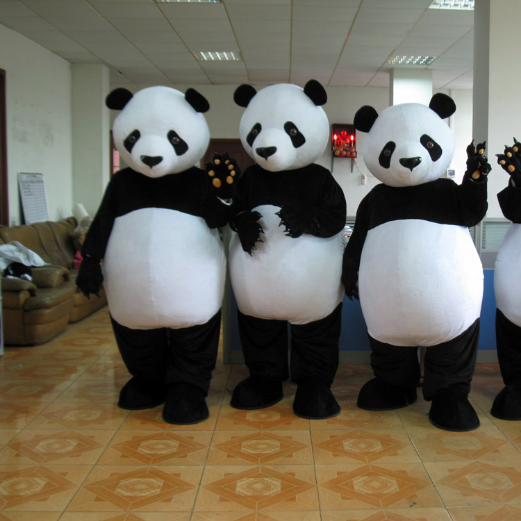 Adorable Poppy Panda Cartoon Mascot Costumes