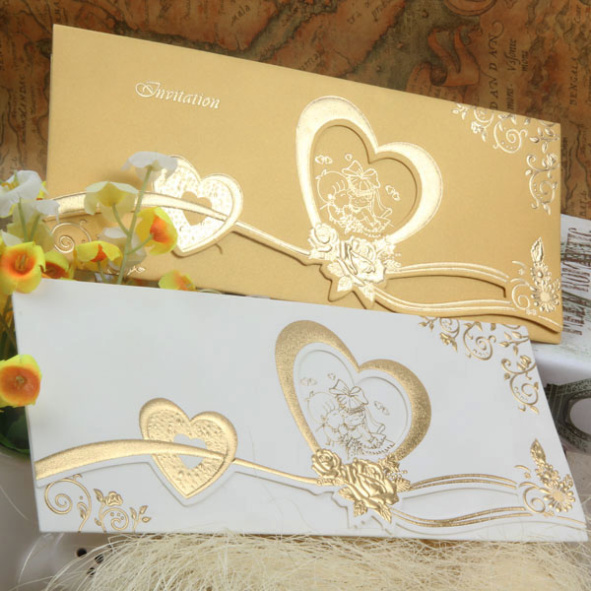 Newly designed handmade wedding birthday favor 25th anniversary invitation cards
