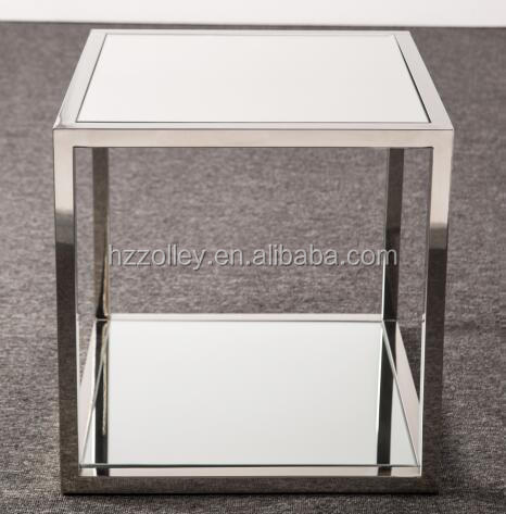 modern simple design stainless steel glass top coffee table global home furniture
