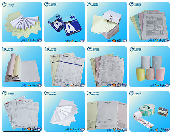 Wholesale multi-ply continuous office computer printing paper 9.5x5.5 4 ply