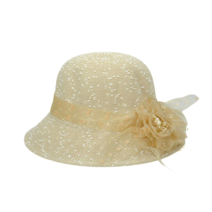 ea4fb312f29564 Get Quotations · Splendid Women Fashion Lace Flower Hat Summer Holiday Sun  Hat Tourism Resort Beach Hats